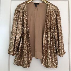 INC Gold Sequin Blazer